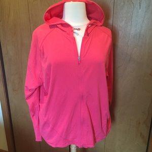 5X Danskin hot pink zip front hoodie with pockets